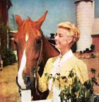 Anita with Flicka in living color