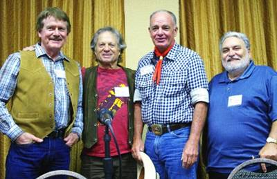 Johnny Washbrook with friends at Gathering of Guns