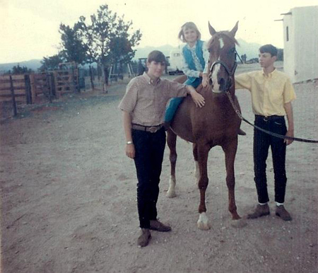 Flicka in 1967 with the Drury Family
