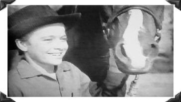 Johnny with Flicka